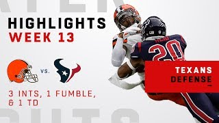 Texans Defensive Highlights vs. Baker & the Browns