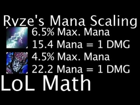 LoL Math - Ryze's Mana Scaling