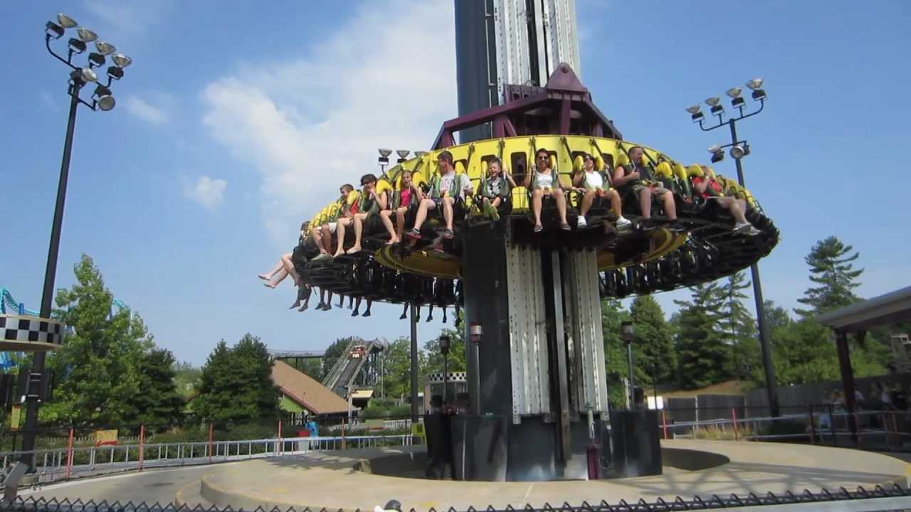 Kings Island Drop Tower Thrill Ride Youtube