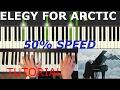 Lagu Elegy for the Arctic - Einaudi (TUTORIAL SYNTHESIA) 50%SPEED