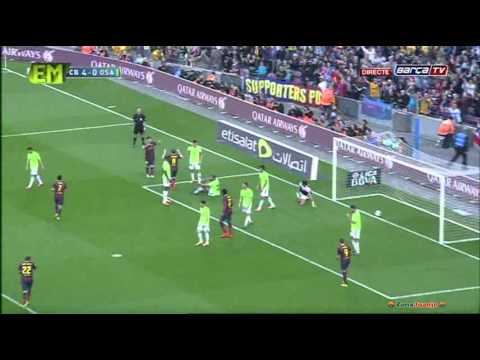 FC Barcelona vs Osasuna [7-0][16-03-2014] All Goals Highlights