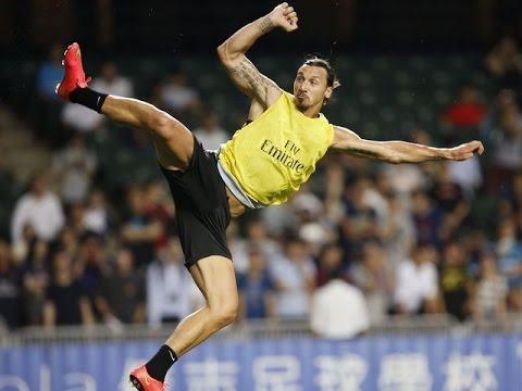 Zlatan Ibrahimovic Kung-fu taekwondo Goal Hd - 2 Different Angles - Hong-kong China 2014 video