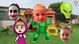 Vlad and Nikita Family Show Wrong Heads Funny Kids Nursery Rhymes Finger Family For Kids