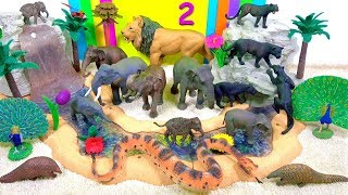 Learn Wild Animals!  INDIAN ANIMALS  🐍 Learn Animal Names, Sounds - Zoo Toys For Kids - Educational