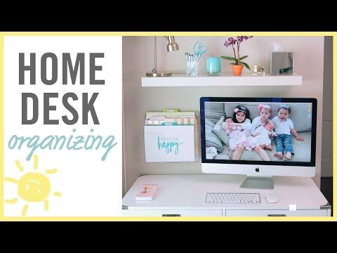 ORGANIZE | Home Desk Makeover!
