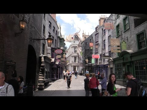 Full Diagon Alley daytime walkthrough at Universal Orlando Wizarding World of Harry Potter