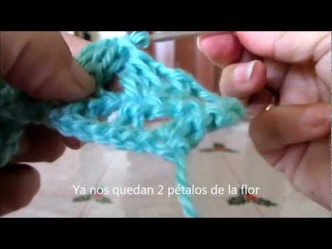 Crochet punto red con flor.wmv