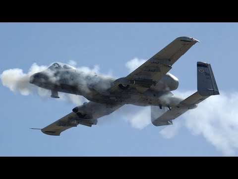 A-10 THUNDERBOLT II IN ACTION ♦ FIRING GUNS AND ROCKETS