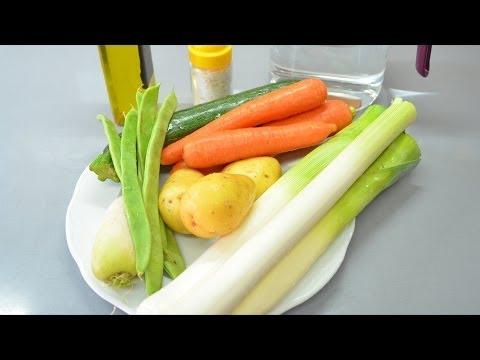 Puré de verduras en olla rápida