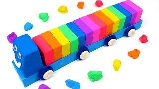 Garage Disney Car Mcqueen with Kinetic Sand Lego Rainbow