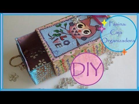 Fásina: DIY Como Hacer Cajas Organizadoras con Cartones de Leche Manualidades-R