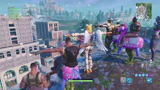 Giddy up follow the leader in Tilted Towers