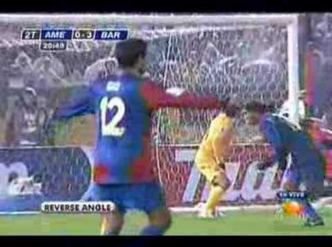 Barcelona golea a las Aguilas del América.