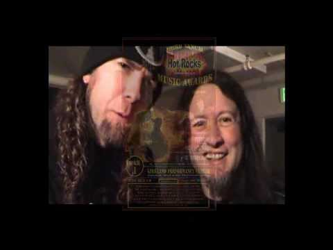 Rob Bramblett and Queensryche's Mike Wilton backstage