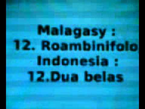 Ny fianarana Malagasy - Indonezianina: NUMBER (Fizarana 1) - amin'ny feo