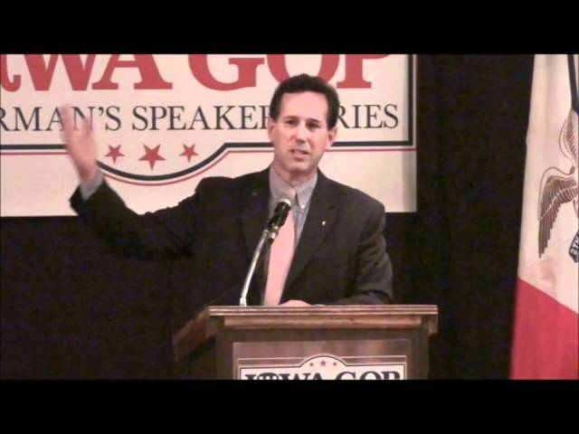 "Santorum rips Obama for ""America not great"" comment"
