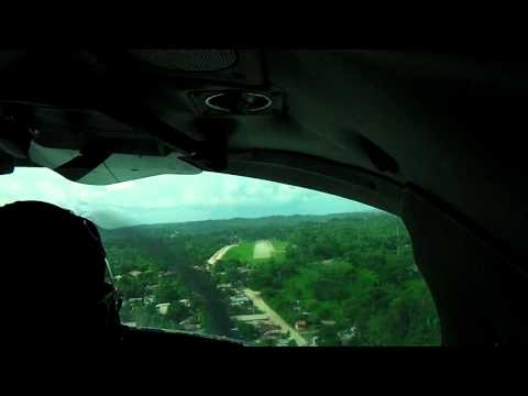 Flying from Managua to San Carlos, Nicaragua. The Landing. [High Definition]