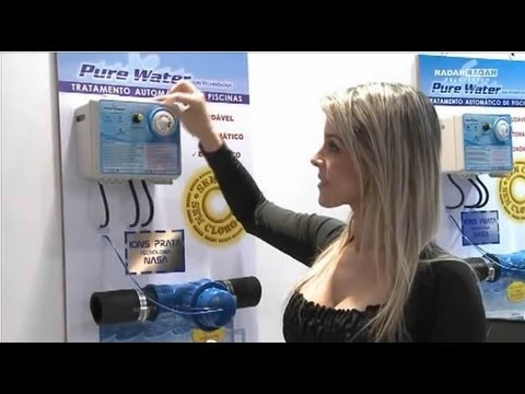 Tratamento de piscina sem cloro pure water youtube for Ionizador piscina