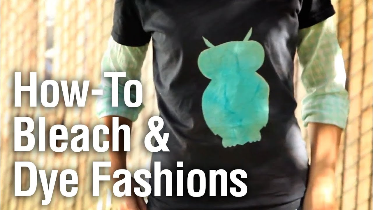 Diy bleach and dye shirts and jeans youtube for How to bleach dye a shirt