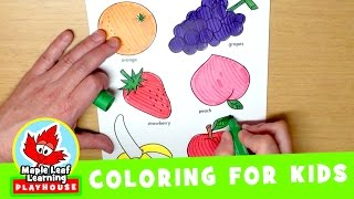Fruit Coloring Page for Kids | Maple Leaf Learning Playhouse