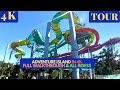 [4k]EVERYTHING AT Adventure Island Tampa Full Walkthrough Slides and Pools