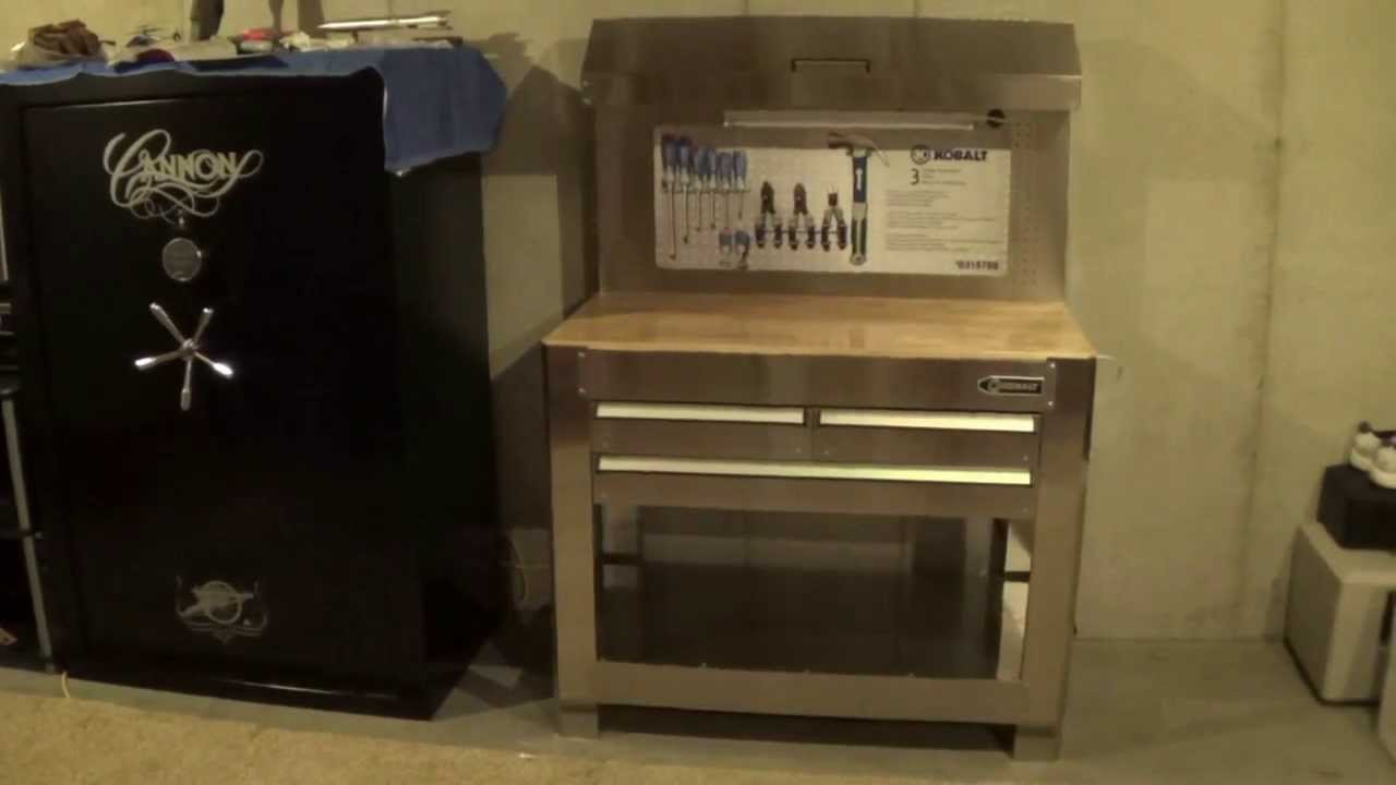 Lowe's Kobalt workbench - A stainless steel gun and ...
