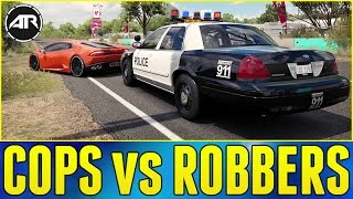 Forza Horizon 3 Online : COPS vs ROBBERS!!! (Ford Crown Victoria Police Build)