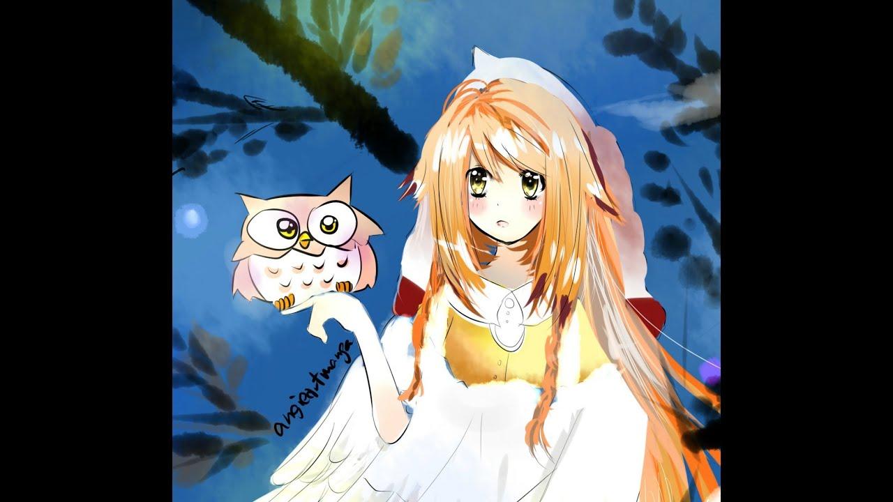 Owl Girl Drawing Drawing Anime Girl Owl Girl