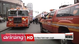 New York train crash injures more than 100 people