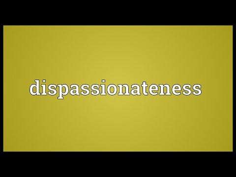 Header of dispassionateness