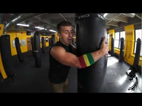 Kickboxing Heavy Bag Workout   | v90 | Clinch Work | Climbing Coconut Trees | Michael Andreula Image 1