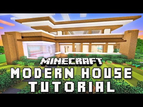 Minecraft Tutorial:  How To Make A Modern House   (Part 4 Roof Design)