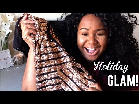 GLAM HOLIDAY DRESS HAUL & TRY ON