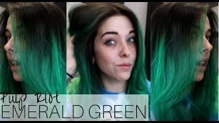 Emerald Green Hair Tutorial || Pulp Riot Hair Color