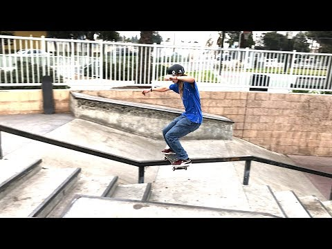 ANDY ANDERSON SKATING UP KINKED RAILS Feat.  DARRIUS HUTTON - NKA VIDS  -