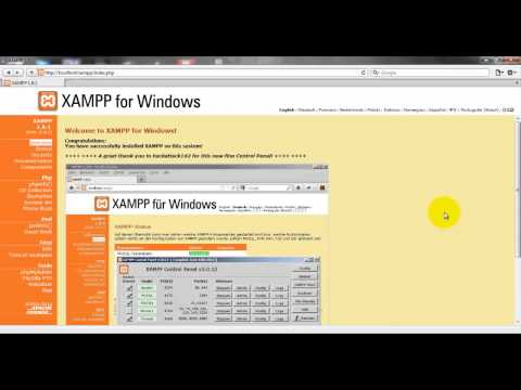 Installing XAMPP 1.8.1 | How to install PHP on Windows 7.