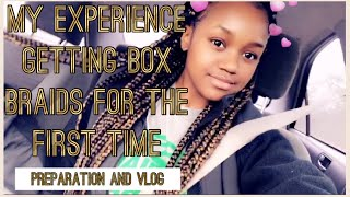 MY EXPERIENCE GETTING BOX BRAIDS FOR THE FIRST TIME (VLOG) + PREPPING MY HAIR // TIANI MCLOYD