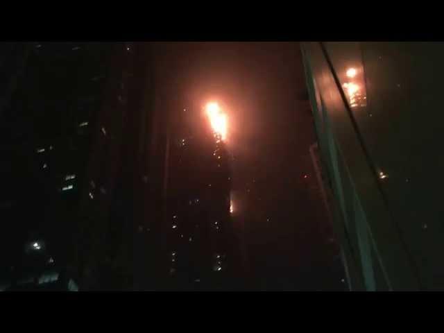 The Torch Tower On Fire . Dubai Marina . Dubai #1
