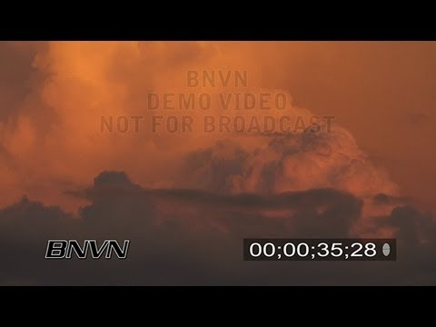 8/13/2007 Sunset Storm Clouds Stock Footage