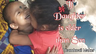 If Daughter is elder than son...