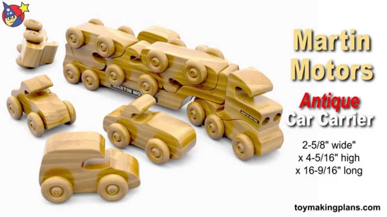 Wood Toy Plans - Martin Motors Car Carrier Truck - YouTube