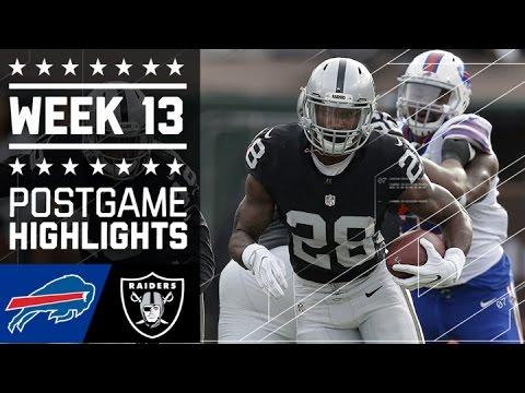 Bills Vs Raiders Nfl Week 13 Game Highlights