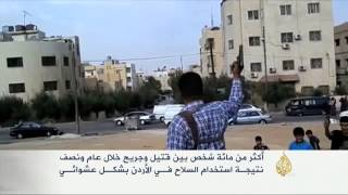 ظاهرة إطلاق النار العشوائي بالأردن
