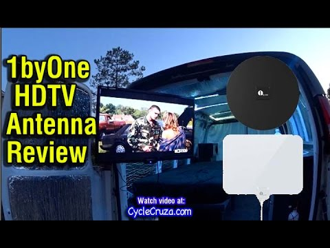 1byOne HDTV Antenna in Van Review   Bug Out Van Build