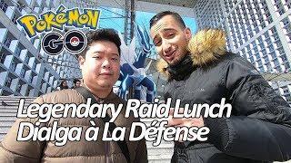 Seb et Ouss testent le Legendary Lunch Raid Event à La Défense - Pokémon GO