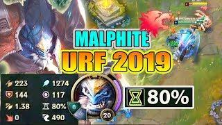 CƠN ÁC MỘNG URF 2019 VỚI MALPHITE 1300 AP ?