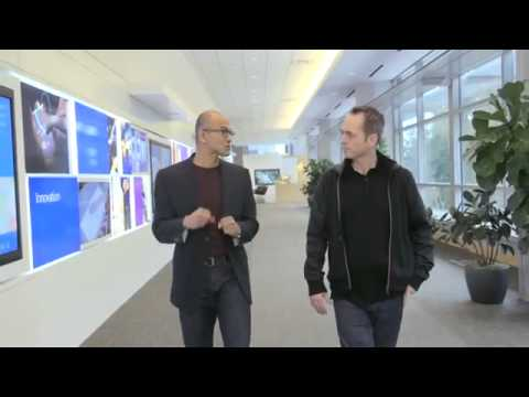Satya Nadella His first interview as CEO of Microsoft