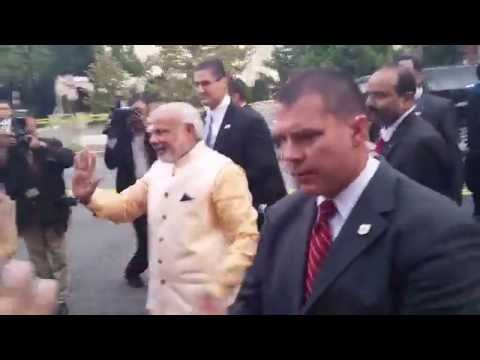 Narendra Modi at Washington DC Indian Embassy