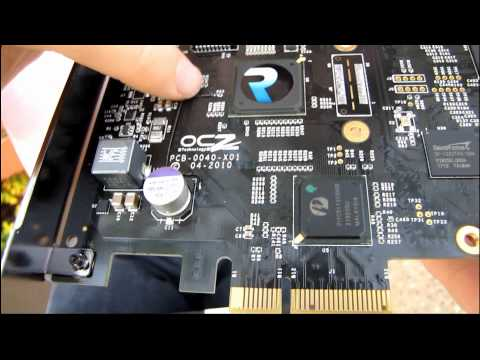 OCZ RevoDrive PCIe 4x RAID SSD Solid State Drive Unboxing & First Look Linus Tech Tips