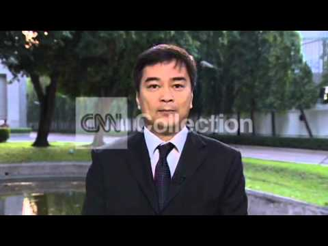 THAILAND: FMR PRIME MINSTER REAX TO PROTESTS